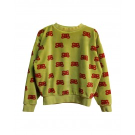 Sweat en velour jaune CIL RED
