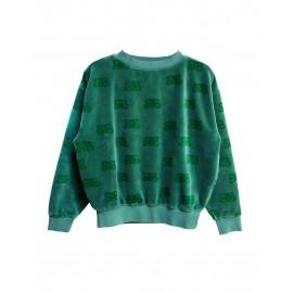 Sweat en velour vert CIL GREEN