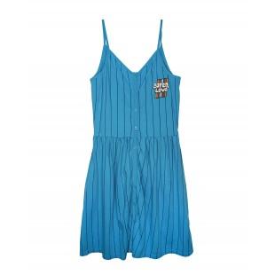 Blauwe jurk WIT