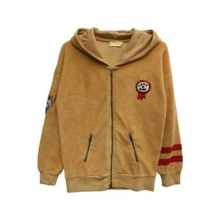 hooded terry vest SUPRA